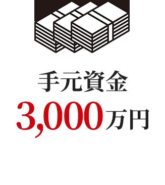 手元資金3,000万円